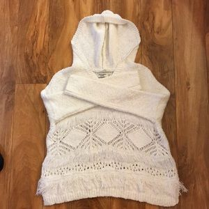 Girls white knit sweater